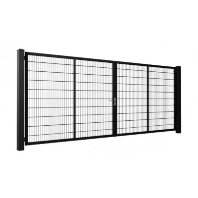 153x300cm Čierna Modest brána