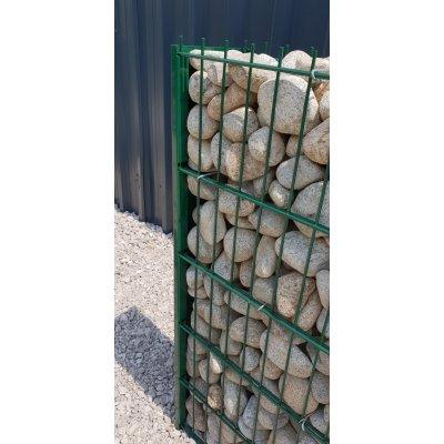 163cm H-Gabiónový plot zelený