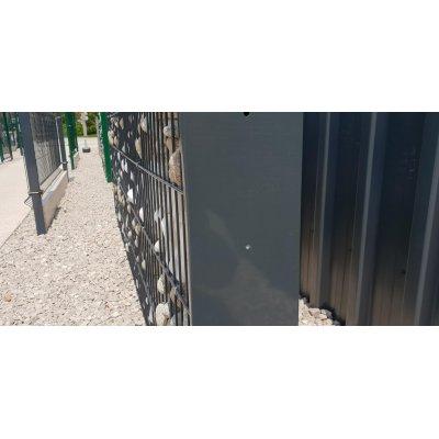 200cm Gabiónový stĺpik antracit