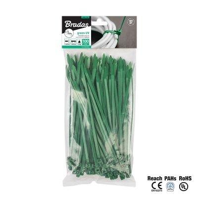 Príchytky na tieniace siete zelené 20cm (100ks)