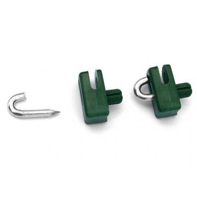 Príchytka napínacieho drôtu natĺkacia zelená