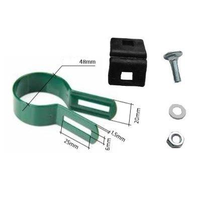 Koncová metal príchytka NEX (Ø 48mm) zelená