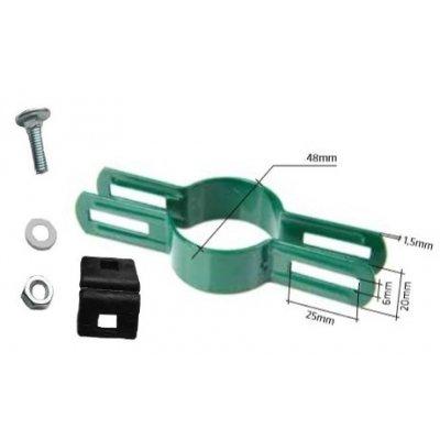 Priebežná metal príchytka NEX (Ø 48mm) zelená