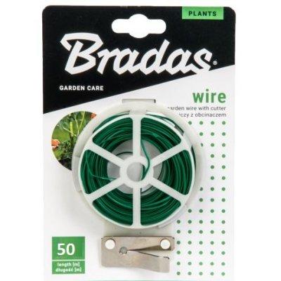 50m Viazací drôt zelený s odstrihom