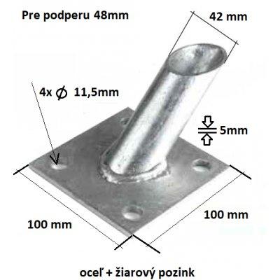 Pätka podpery pozinkovaná 48mm