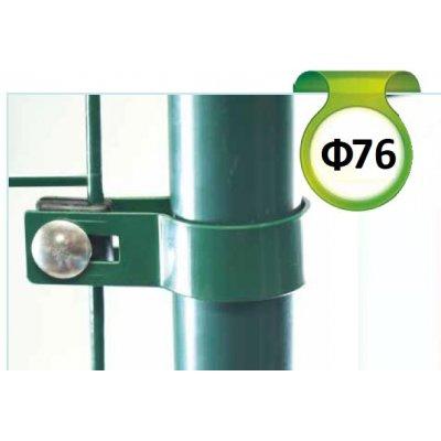 Antracit Metal príchytka bránky/brány s guľatým stĺpikom 76 mm