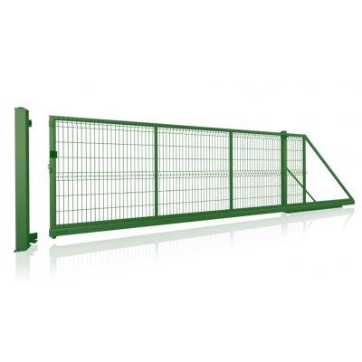 Zelená Modest samonosná posuvná brána ručná