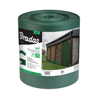 Zelená SOLID krycia páska k plotovým panelom (19 cm)
