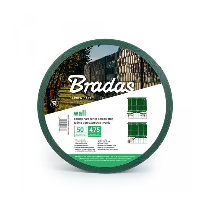 Zelená SOLID krycia páska k plotovým panelom (4,75 cm)