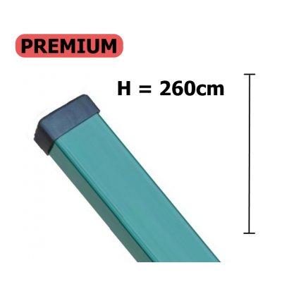 PREMIUM Stĺpik 260cm zelený