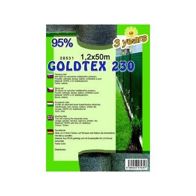 GOLDTEX 120cm Tieniaca sieť 95% (50m)