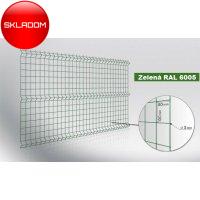 153cm Poplastovaný Panel VEGA SPORT zelený