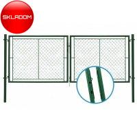 175x360cm  Brána dvojkrídlová zn+pvc  zelená IDEAL®