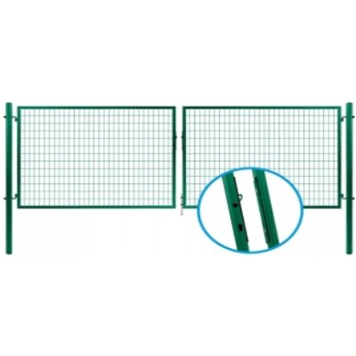 145x355cm Brána PROMOTION zelená