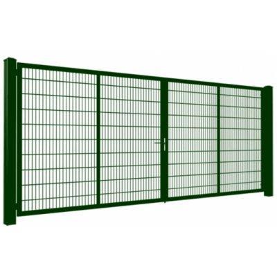 200cm Zelená Gardia brána 200-800cm