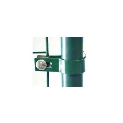 Zelená Metal príchytka brány s guľatým stĺpikom 76mm