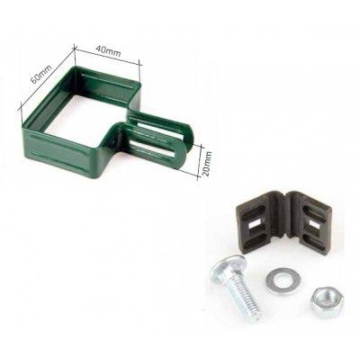 Koncová metal príchytka PREMIUM /TANGEL (60x40mm) zelená