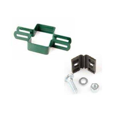 Priebežná metal príchytka PREMIUM /TANGEL (60x40mm) zelen