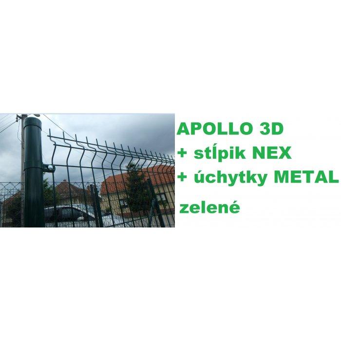 Set 153cm APOLLO + NEX + METAL Zelený