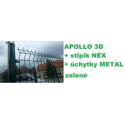 Set 203cm APOLLO + NEX + METAL Zelený