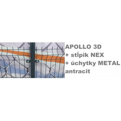 Set 173cm APOLLO + NEX + METAL Antracit