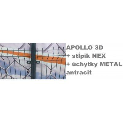Set 203cm APOLLO + NEX + METAL Antracit