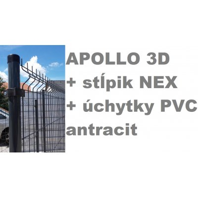 Set 173cm APOLLO + NEX + PVC Antracit