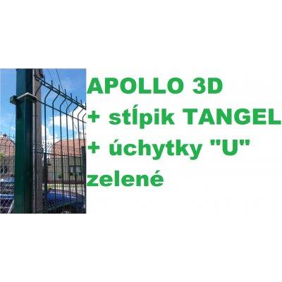 """Set 123cm Zelený APOLLO so stĺpikmi Tangel 60x40mm a úchytkami """"U"""""""