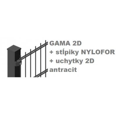Set Antracit GAMA + Nylofor + 2D
