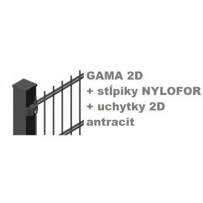 Set Antracit GAMA + QUATRO + 2D