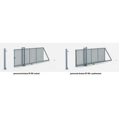 150-220cm Posuvná brána PI 95 350-700cm
