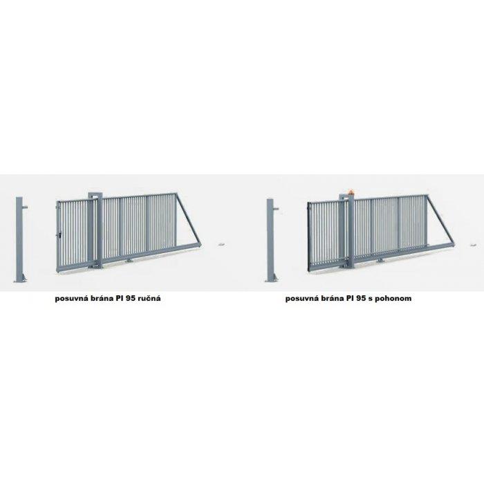 140-220cm Posuvná brána PI 95 350-700cm