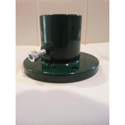Pätka stĺpika 60 mm Hliníková zelená k brankam Ideal Solid