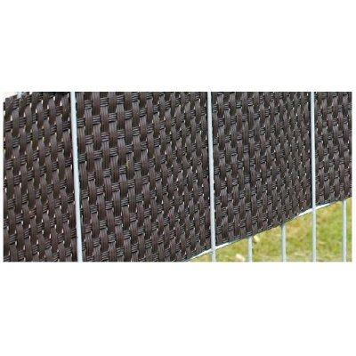 Ratan krycia páska k plotovým panelom Čokoládovo hnedá
