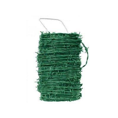Zelený Ostnatý drôt pozink+PVC 100m
