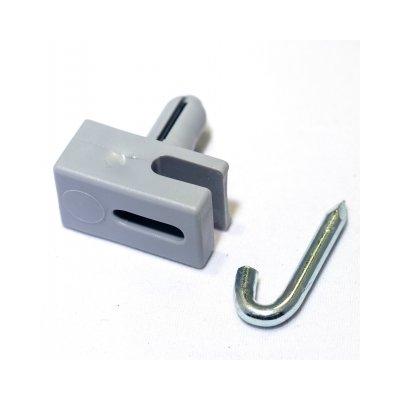 Príchytka napínacieho drôtu natĺkacia sivá