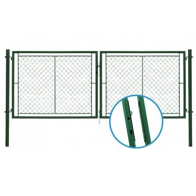 175x396cm Brána YDEAL zelená