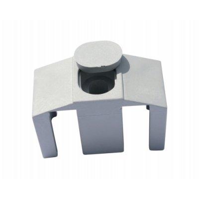 Príchytka panelu 3D k stĺpikom Nylofor sivá