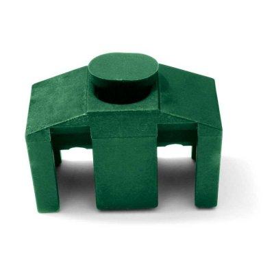 Príchytka panelu 3D k stĺpikom QUATRO zelená