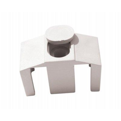 Príchytka panelu 3D k stĺpikom QUATRO biela