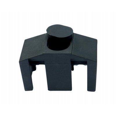 Príchytka panelu 3D k stĺpikom QUATRO čierna