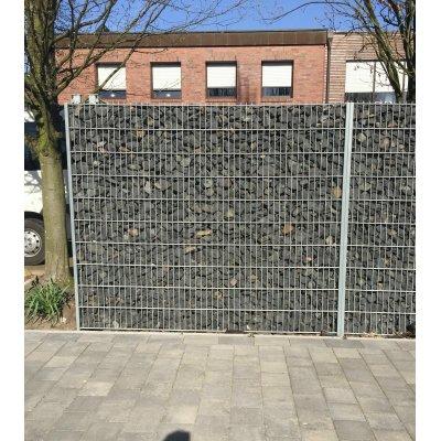 163cm H-Gabiónový plot