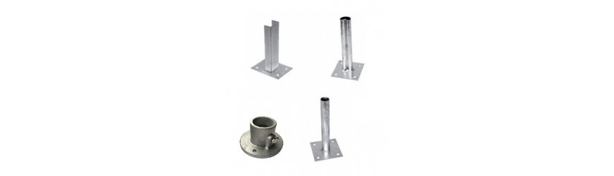 Pätky na uchytenie stĺpikov k betónovej podlahe