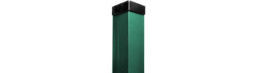 Zelené zn+pvc Nylofor stĺpiky 60x60mm