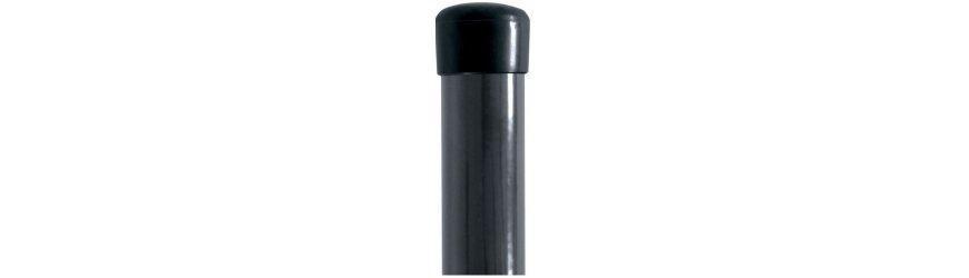 Antracit zn+pvc guľaté stĺpiky 48mm