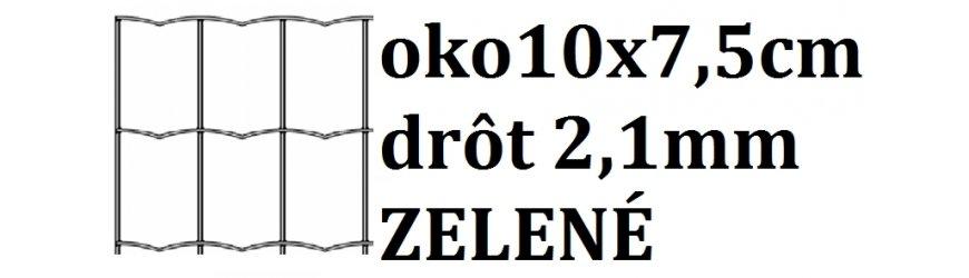 Poplastované pletivo obdĺžnikové oko10x7,5 cm drôt 2,1mm
