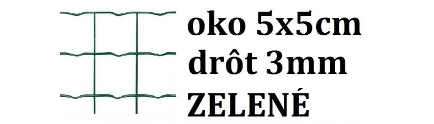 Poplastované pletivo štvorcové oko5x5 cm drôt 3,0mm
