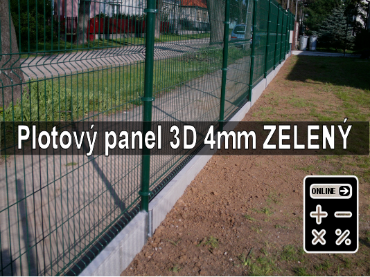 Online kalkulator plotový panel apollo 3d zelený