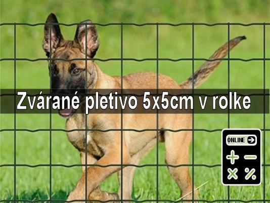 Online kalkulator zvarane pletivo oko 5x5 proti psom