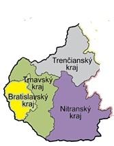 Doprava Nitriansky Trnavský Trenčiansky Bratislavský kraj